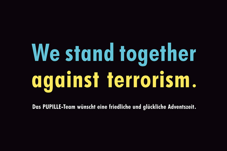 Plakataktion 'We stand together'